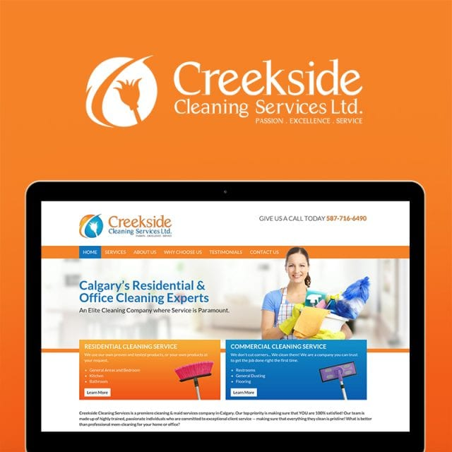 Creekside Cleaning Services Branding Project
