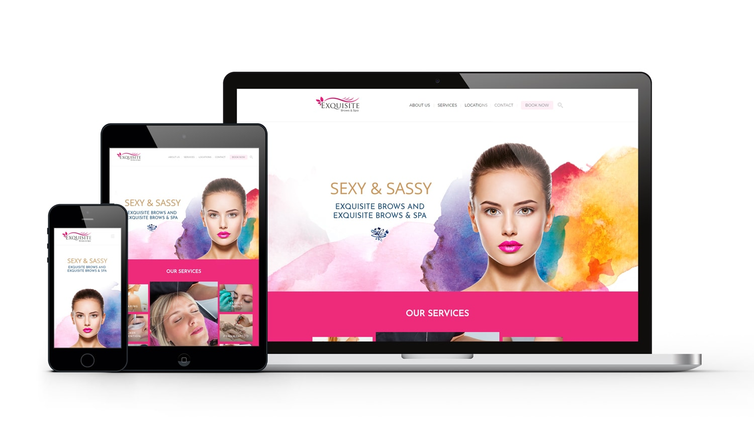 Exquisite Brows Responsive Website