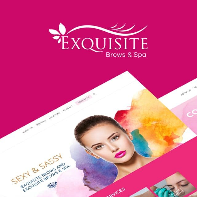 Exquisite Brows Website Design Project