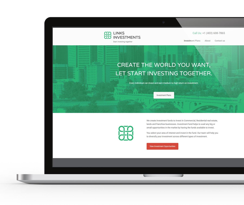 Links Investments Website Design